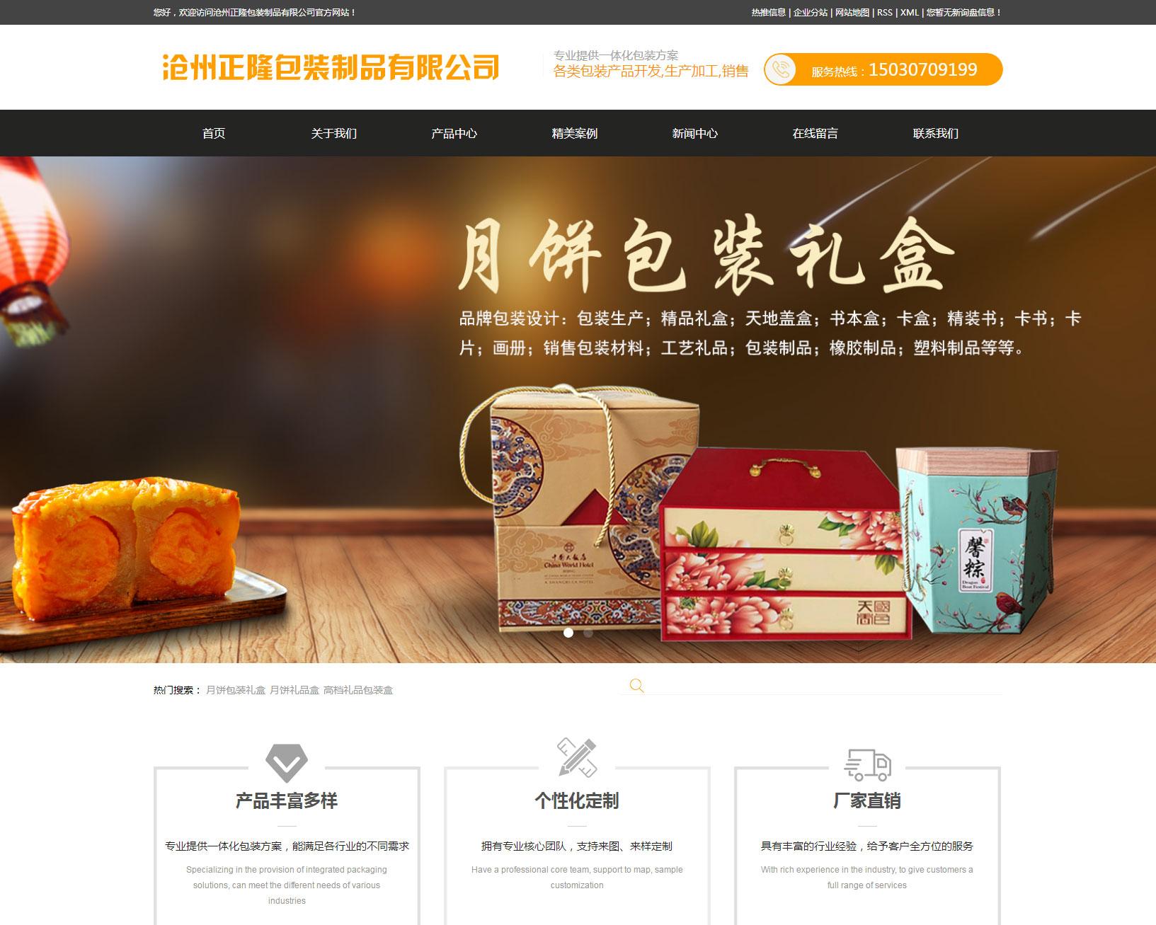 沧州网站设计包装行业案例