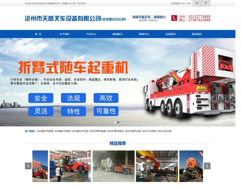 沧州网站建设租赁行业案例